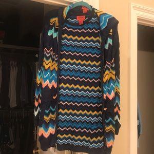 Classic Missoni knit dress w/ hooded sweater set.